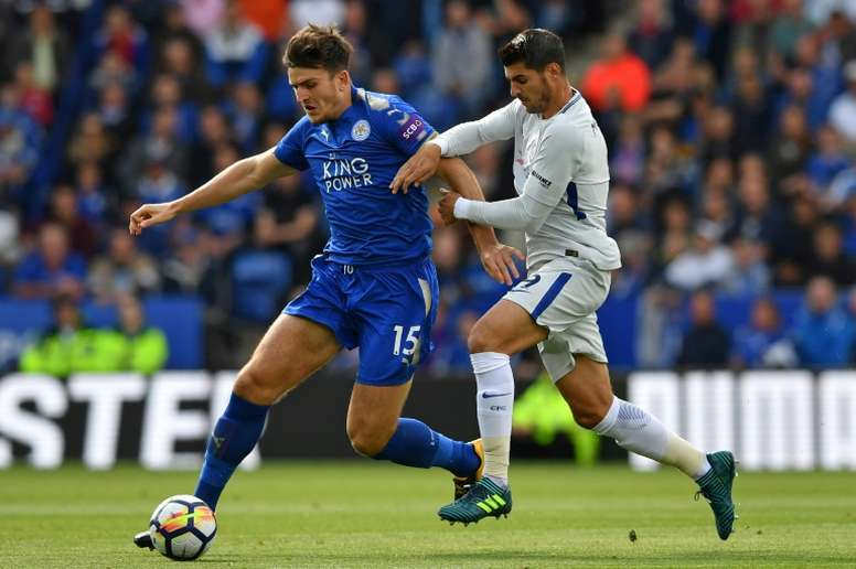 Puel welcomes Maguire transfer talk. AFP