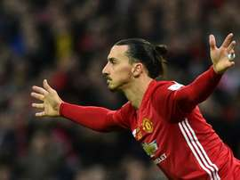 Zlatan Ibrahimovic esteve no Manchester United entre as temporadas 2015-16 e 2017-18. AFP