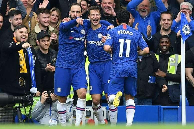 El Chelsea anunció la baja de Higuaín y otros jugadores. AFP