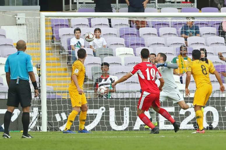 Jordania ganó 0-1. AFP