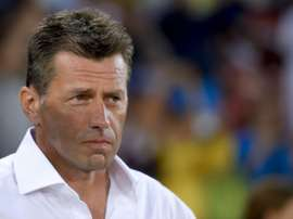 Skibbe was not happy with FIFA's decision to hand Manolas a one-match ban. AFP