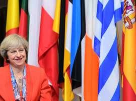 Brexit means Brexit. AFP