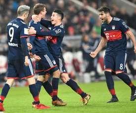 O Bayern bateu o Mainz por 0-2. AFP