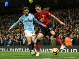 Matic a évoqué les objectifs de United cette saison. AFP/Archive