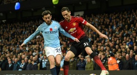 Bernardo Silva was excellent in City's derby-day victory. AFP