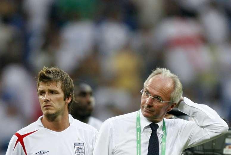 Eriksson dirigió a Beckham en Inglaterra. AFP