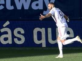 Benzema scored. AFP