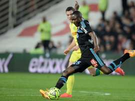 Giannelli Imbula (R), pictured on April 17, 2015 during a French L1 match, signed on with Stoke City from FC Porto for a club record £18.3 million just before the transfer window shut