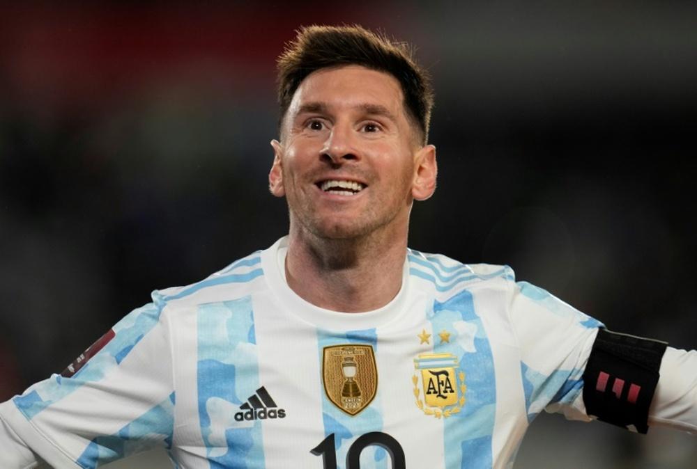 El utillero de Messi, al descubierto. AFP