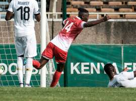 Michael Olunga missed Kenya's best chance of the match. AFP