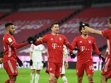 Lewandowski nets twice as Bayern roar back to floor Mainz. AFP