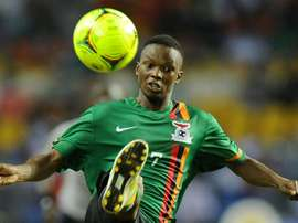 Kalaba helped TP Mazembe of the Democratic Republic of Congo win the CAF Confederation Cup. AFP