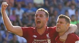 Liverpool já negocia a renovação de Milner. AFP