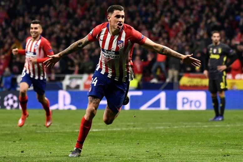 Giménez admite que la Champions será el objetivo del Atlético. AFP