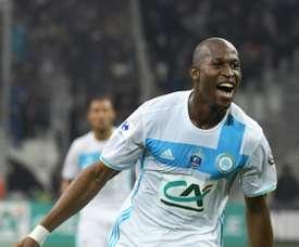 Fanni anotó el primer gol del Olympique de Marsella ante el de Lyon. AFP