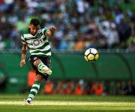 O Sporting venceu o Santa Clara por 1-0 e sobe ao terceiro lugar. AFP