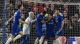 El Chelsea ha sellado el pase a la final con suspense. AFP