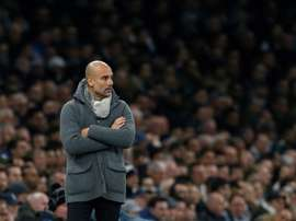 Guardiola did not explain why he took so long to make changes. AFP