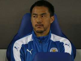 Leicester Citys striker Shinji Okazaki, pictured in September 2016, is preferred to Jamie Vardy by manager Claudio Ranieri