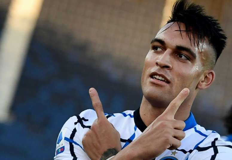Lautaro Martinez scored for Inter, but it was not enough to get three points. AFP