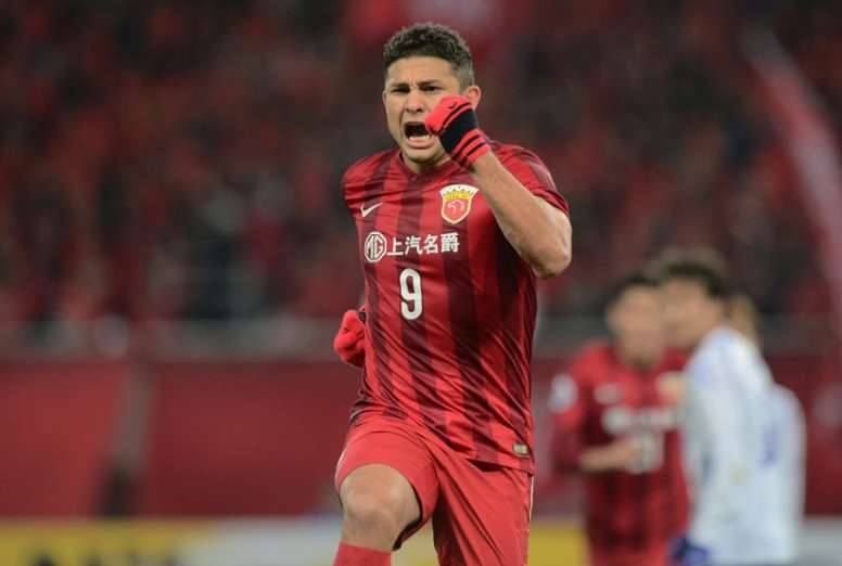 Shanghai SIPG forward Elkeson scored two goals in his sides 2-1 win over Gamba Osaka in Shanghai on March 15, 2016