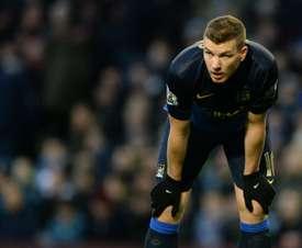 Edin Dzeko spent five seasons in the Premier League with Manchester City. AFP