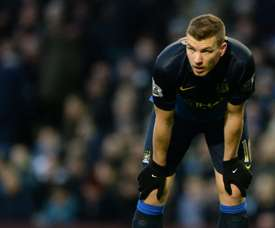 Edin Dzeko spent five seasons in the Premier League with Manchester City. AFP