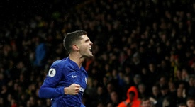 Christian Pulisic has scored four goals in his last two Premier League games. AFP