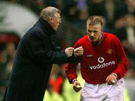 Beckham fu la grande stella dello United. AFP