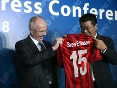 Sven-Goran Eriksson left Shanghai SIPG last month despite leading them to third place. AFP