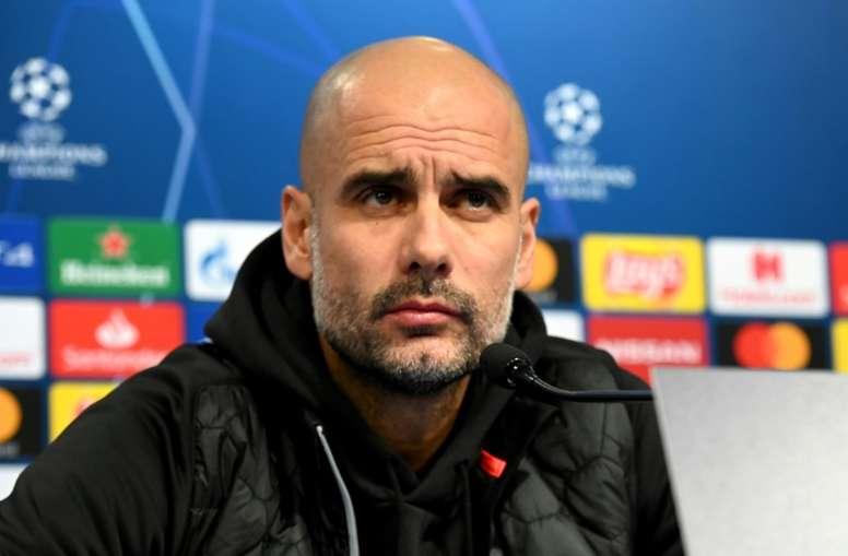 Guardiola dijo hace casi un año confiar plenamente en el City. AFP/Archivo