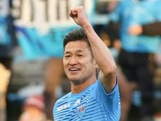 Yokohama FC forward Kazuyoshi Miura, known as King Kazu, will kick off his 36th career season. AFP