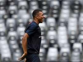 Mbappé is out again. AFP