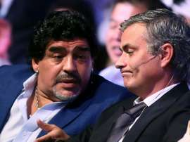 Jose Mourinho has paid tribute to the late Diego Maradona. AFP
