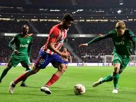 Siomin no dio pistas acerca del once que alineará ante el Atlético. AFP
