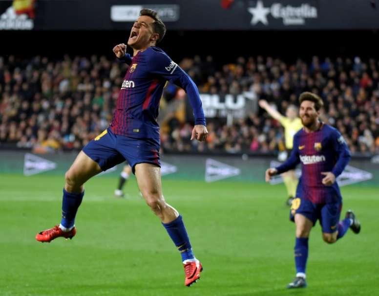 Coutinho marcou no triunfo do Barcelona. AFP