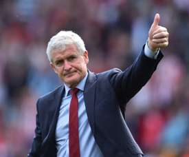 Mark Hughes is taking Southampton's game with Watford very seriously. AFP