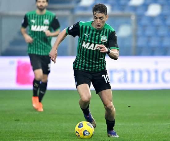 Filip Djuricic saw red for Sassuolo and SPAL beat them 0-2. AFP