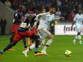Ghezzal anotó el primer tanto del equipo de Lyon. AFP