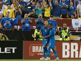 Richarlison scored twice as Brazil cruised to victory over El Salvador. AFP
