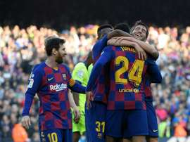 Miguel Rico fala sobre a polêmica no Barça. AFP