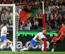 André Silva gol contra itália. AFP