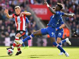 Chelsea striker Tammy Abraham netted in the win at Southampton. AFP