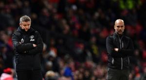 Les compos probables du match de League Cup entre Manchester City et Manchester United. AFP