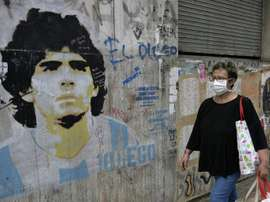 Maradona pleads for 'Hand of God' to end pandemic. AFP
