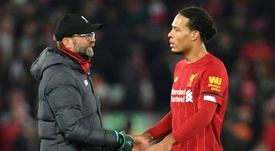 Klopp has backed Van Dijk. AFP