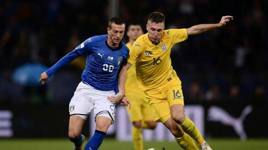 Italia empató con Ucrania. AFP