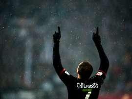 Leverkusens forward Javier Hernandez