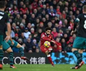 Liverpool's Mohammed Salah scored the opening goal  against Southampton  last season. AFP