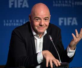 Infantino  continues to press on with expansion plans for the tournament. AFP